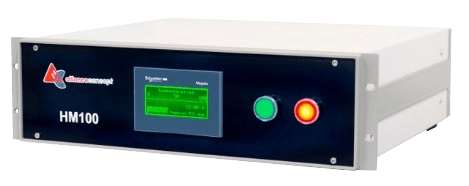 Helium concentration measurer for leak testing equipement