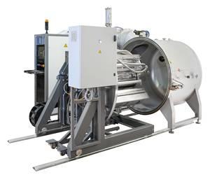machine de traitement sous vide de bobine textile et plastique